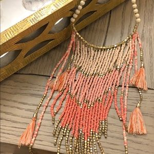Never worn!! Beaded necklace